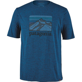 Patagonia Cap Cool Daily Graphic T-shirt Herr line logo ridge/big sur blue x-dye